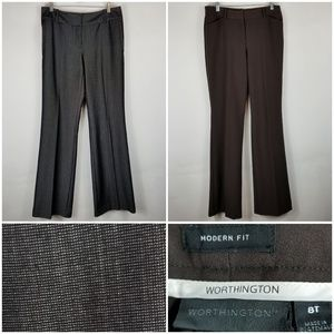 2 Worthington Woman Pants Sz 8T Modern Fit